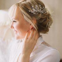 Свадебный образ: макияж, прическа и украшение для волос ручной работы