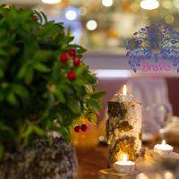 Фото от Юлии Карабановой  передают настроение вечера- торжество в уютной и романтической обстановке!