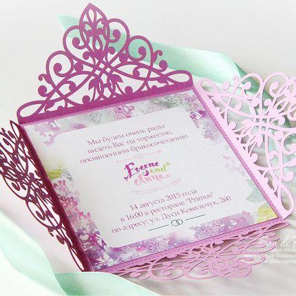Свадебное приглашение Лаванда