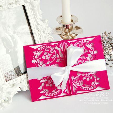 Свадебное приглашение Фуксия