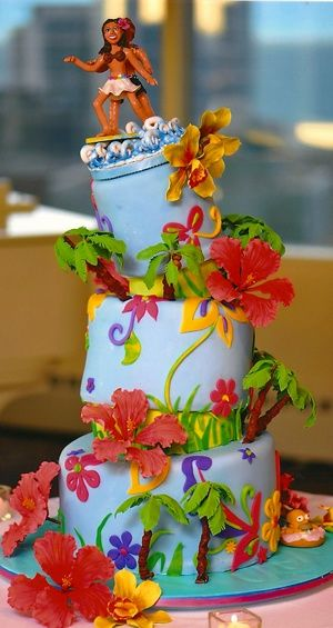 Фото торта в гавайском стиле