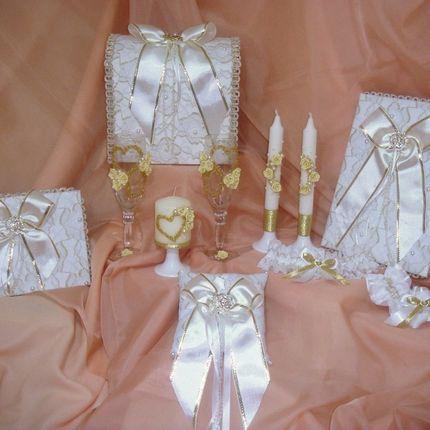 Свадебный набор кружево