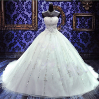 Платье пышное No 2 цена 16000 рублей материал: Сатин+Тюль+Кружево украшения: Кристаллы+Стразы+Блестки