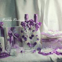 """Свадебный набор """"В фиолетовом цвете"""""""