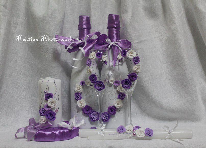 """Свадебный набор """"В фиолетовом цвете"""" - фото 2754185 Кристина Хацкевич - свадебный декоратор"""