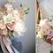 белый с розовым букет невесты нежный и красивый с розами