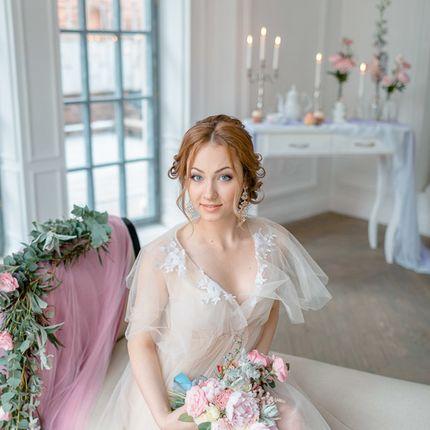 Оформление фотосессии утра невесты