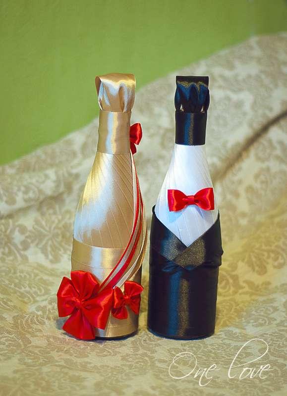 Декорация бутылок на свадьбу