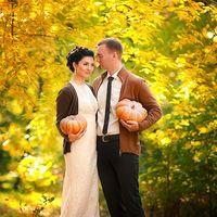 Тыквы в декоре свадебной фотосессии