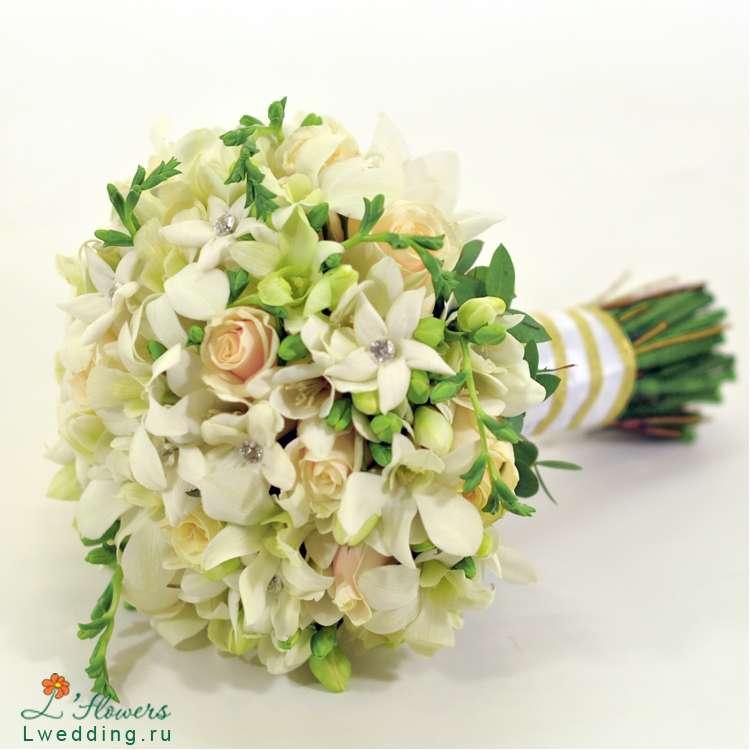 Цветов иркутске, заказать свадебный букет из орхидей и фрезий