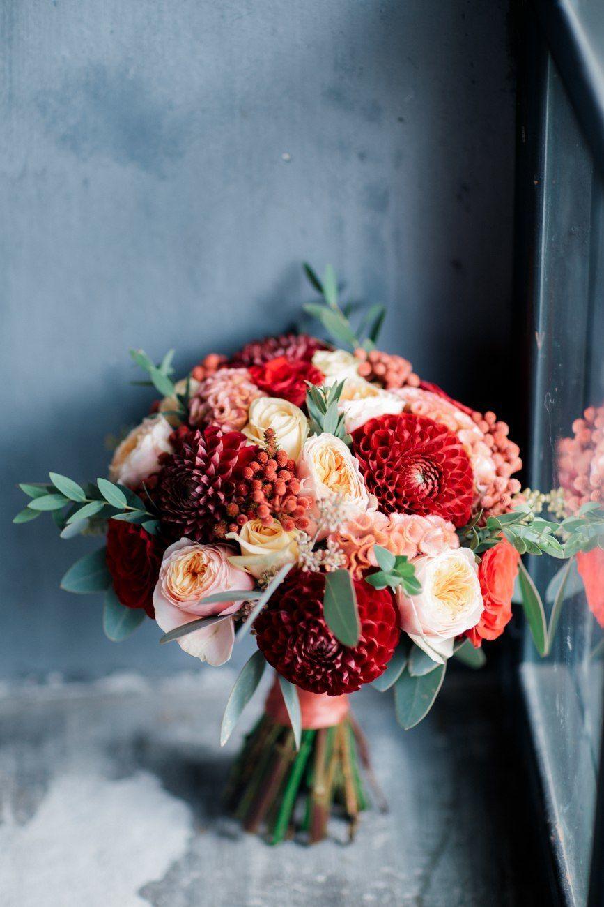 Букет марсала, персиковый - фото 16417544 Just Mood - свадебное агентство