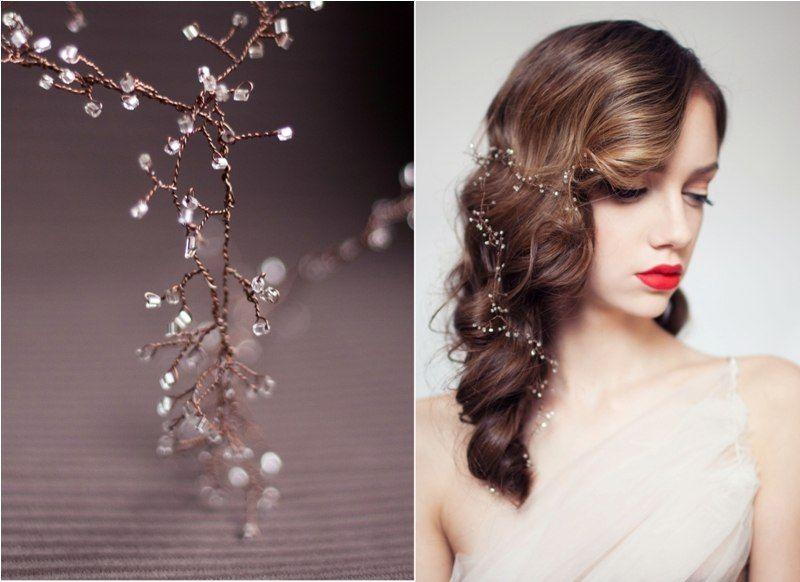 Украшение для свадебной причёски