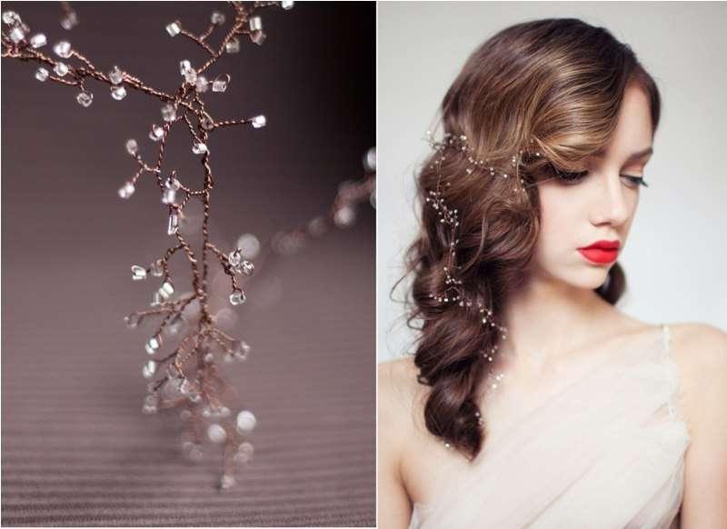 Свадебное украшение волос своими руками