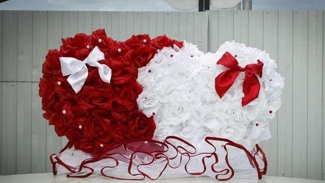 Большое сердце для свадьбы своими руками