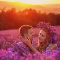 LoveStory in Crimea in Lavender