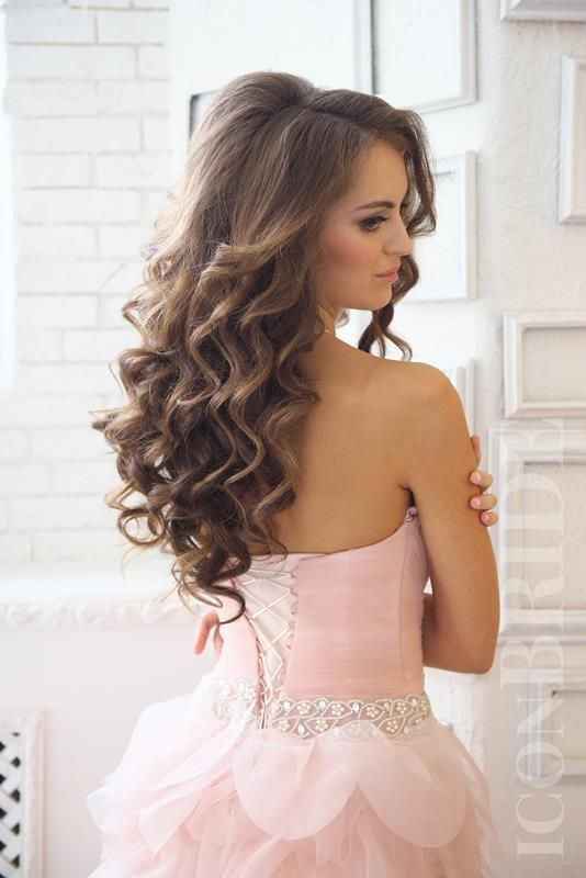 Прическа локоны на длинные распущенные волосы