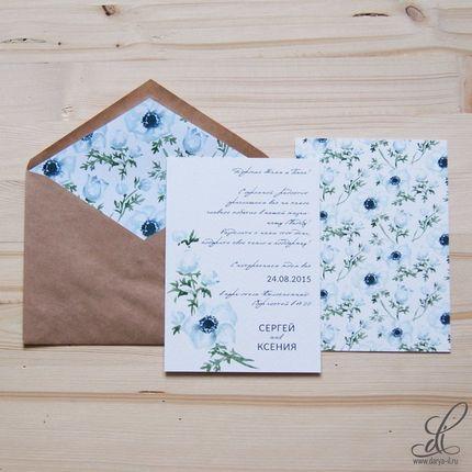 "Приглашение на свадьбу ""Anemones"""