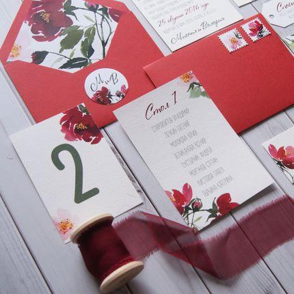 """""""Красные цветы"""" - приглашение"""