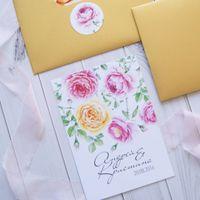 """Приглашение """"Английские розы"""""""