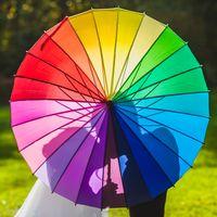 Радужный зонт для свадьбы