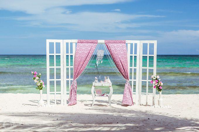 Свадьба в салатово-розовых тонах Насти и Юры в Доминикане