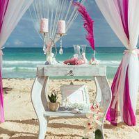 Винтажный столик для церемонии