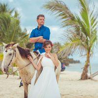 Свадьба в Доминикане. Фотосессия с лошадьми.