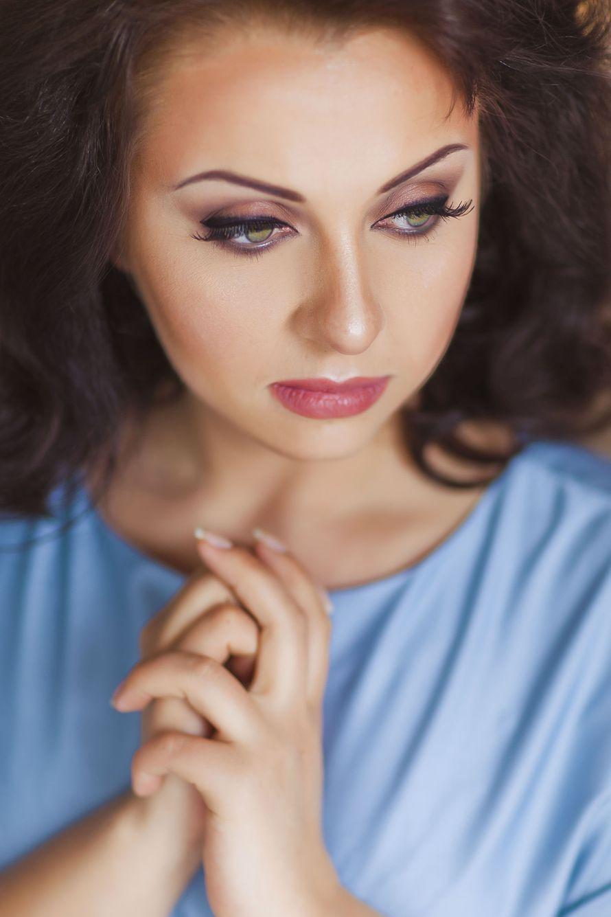 макияж коричневый смоки, стрелки. возрастной. - фото 2415319 Стилист-визажист Катрина Петренко