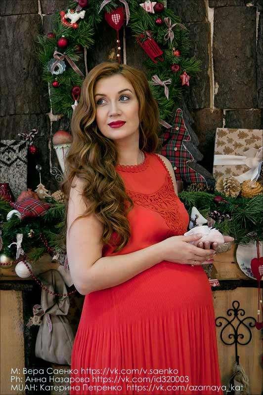 объемные локоны, стрелки, красные губы, беременные - фото 2415333 Стилист-визажист Катрина Петренко