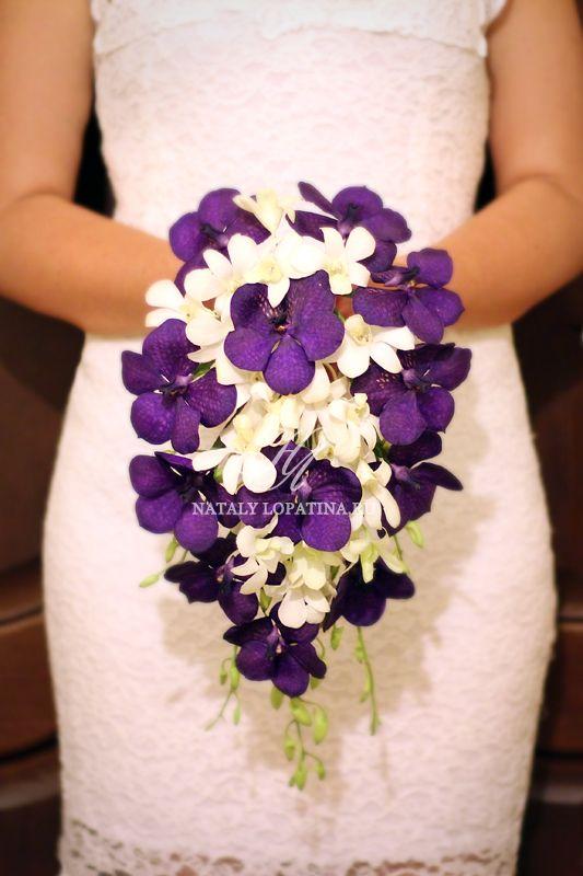 Букет невесты с орхидеей ванда и дендробиумом - фото 3132107 Наталья Лопатина - флорист-дизайнер