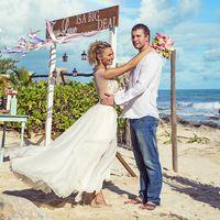 идеи для свадебной арки на море
