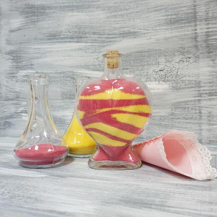 Бутылка в форме сердца