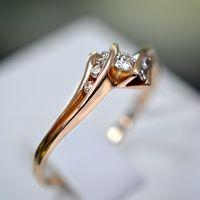 Золотое кольцо с бриллиантами. 585 проба.