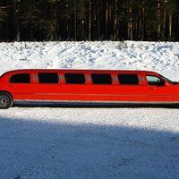 Lincoln, Town Car, красный лимузин, 12 метров