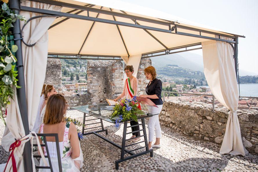 Официальная церемония в замке г.Мальчезине 2019 озеро Гарда - фото 18940876 Italia Viaggi - организация свадеб