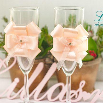 """Свадебные бокалы для битья """"Утончённость"""""""