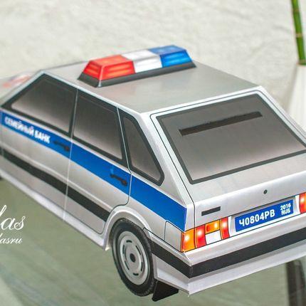 Казна в виде полицейского автомобиля
