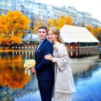 Свадьба Михаила и Нины, октябрь 2014 г.  Образ невесты (платье, пальто, клатч) разработан и изготовлен дизайнерами KASA.