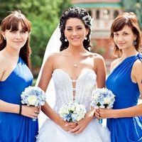 Невеста и её подружки в синем