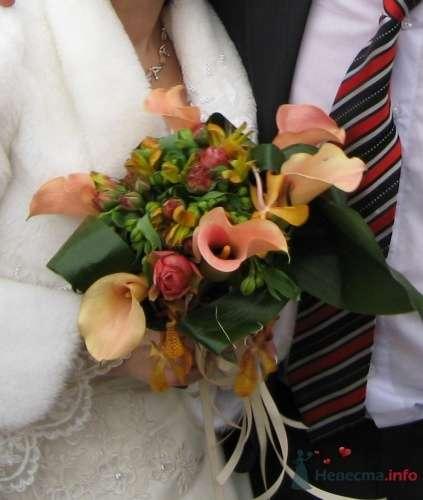 Розовый букет невесты с каллами - фото 1442 moonwoman