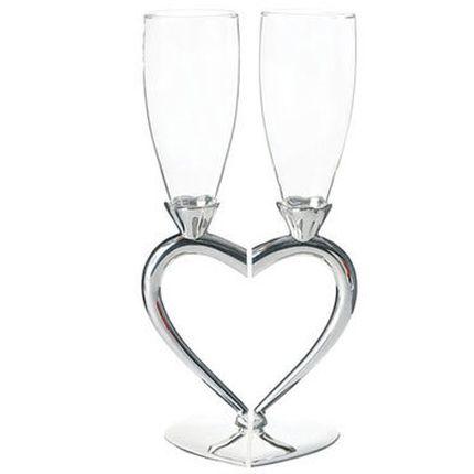 Бокалы на свадьбу сердце