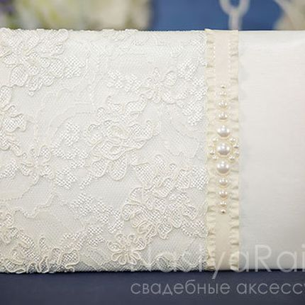 Свадебная книга для пожеланий жемчуг