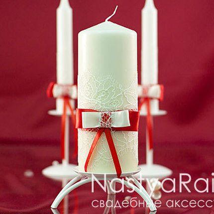 Свадебная свеча толстая лилль 20см