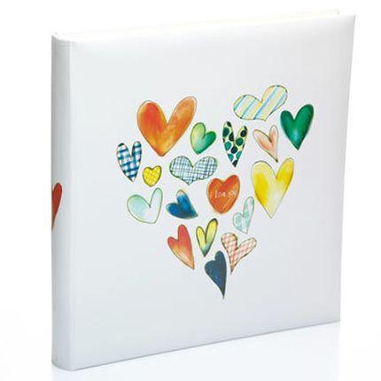 Магнитный фотоальбом с сердечками