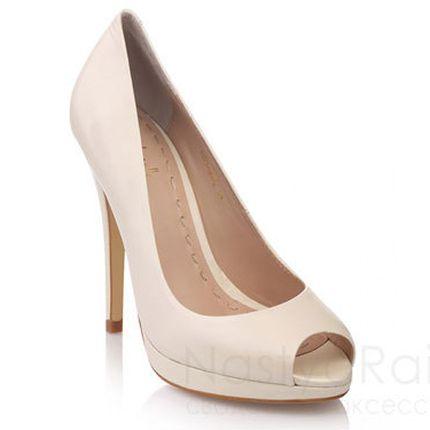 Открытые свадебные туфли