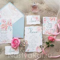 """Коллекция полиграфии """"Воздушные цветы"""", приглашения на свадьбу, меню, рассадочные карточки"""