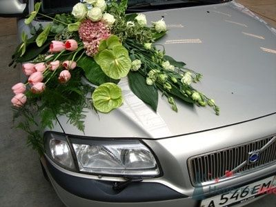 Свадебный декор автомобиля - фото 407 Mallina Botanique - праздничное оформление
