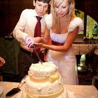 и тортик в ромашку