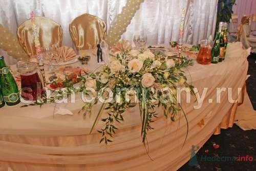 """Цветы на стол жениха и невесты - фото 15189 Компания """"Шар"""" - оформление"""