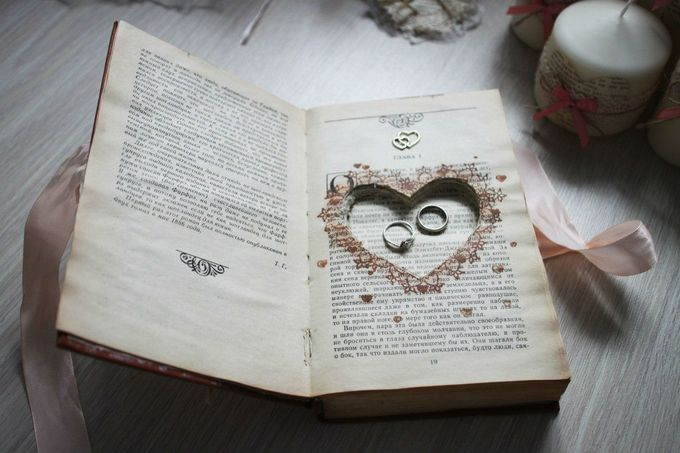 Шкатулка для колец из книги